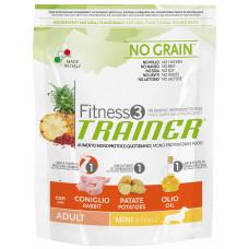 Trainer Fitness3 Adult Mini сухой корм для взрослых собак мелких пород с кроликом, картофелем и маслом 0,8 кг