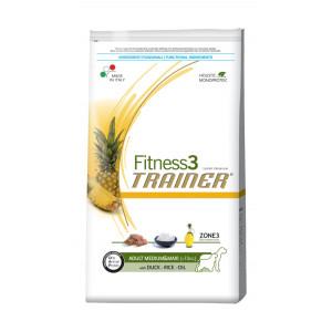Trainer Fitness3 Adult Medium&Maxi сухой корм для взрослых собак средних и крупных пород с уткой, рисом 3 кг