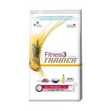 Trainer Fitness3 Adult Medium&Maxi сухой корм для собак средних и крупных пород с ягненком, рисом 12,5 кг