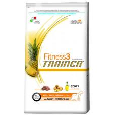 Trainer Fitness3 Adult Medium&Maxi сухой корм для собак средних и крупных пород с кроликом, картофелем 12,5 кг