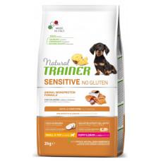 Сухой корм Trainer Natural Dog Sensitive Super Premium Puppy & Junior Mini для щенков мелких пород с лососем 2 кг
