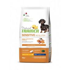 Сухой корм Trainer Natural Dog Sensitive Super Premium Adult Mini для взрослых собак мелких пород с лососем 2 кг