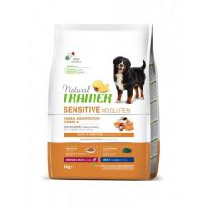 Сухой корм Trainer Natural Dog Sensitive Super Premium Adult Medium & Maxi для взрослых собак средних и крупных пород с лососем 3 кг