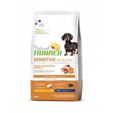 Сухой корм Trainer Natural Dog Sensitive Super Premium Adult Mini для взрослых собак мелких пород с лососем 7 кг