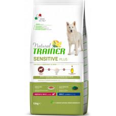 Сухой корм для собак Natural Trainer Dog Sensitive Plus Adult MM With Horse с кониной, рисом и маслом 12 кг