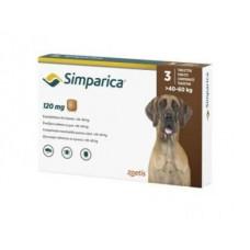 Симпарика х3шт жевательные таблетки, для собак 40-60 кг, 120 мг (цена за 1 штуку)