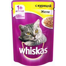 Whiskas (Вискас) консервы для кошек с курицей в желе 100г