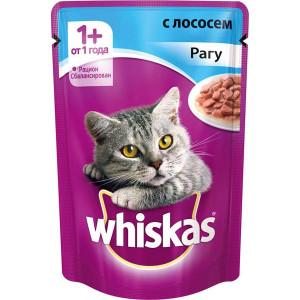 Whiskas (Вискас) консервы для кошек с лососем в соусе 100г