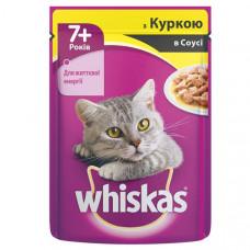 Whiskas (Вискас) консервы для кошек старше 7 лет с курицей в соусе 100г