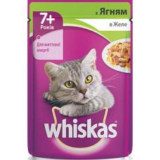 Whiskas (Вискас) консервы для кошек старше 7 лет с ягненком в желе 100г