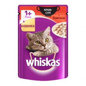Whiskas (Вискас) консервы крем-суп с говядиной 85г