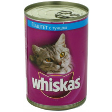 Whiskas (Вискас) консервы паштет с тунцом 400г