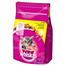 Whiskas (Вискас) консервы для котят с курицей 14кг