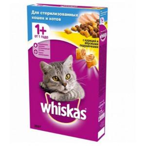 Whiskas (Вискас) консервы для стерилизованных котов с курицей 350г